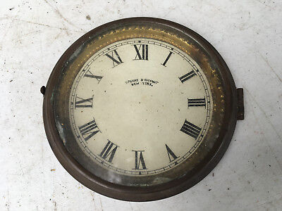 Vintage Small Sperry Clock Face and Glass with Bezel  for  Parts / Repair ML157