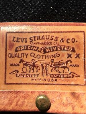 Vtg Levi Strauss Leather Key Holder Great Shape Hipster Accessory