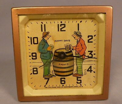 Antique Animated BEER DRINKING CLOCK- Running Condition-BEST OFFER-
