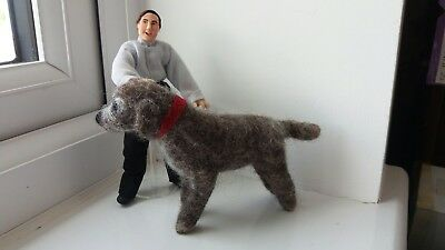 Needle Felted Dog With Collar (2)