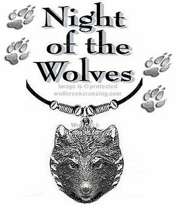NIGHT WOLVES - SPIRIT WOLF NECKLACE for MALE or FEMALE JEWELRY - FREE SHIP #Lth
