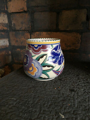 Poole Pottery - Blue Bird Pattern Vase - Art Deco Signed PB Very Good Condition