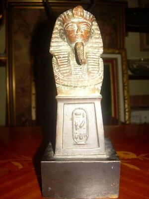 Bronze Sculpture Egypt Pharaoh Rare Vintage Sphinx Statue Antique Unique Piece