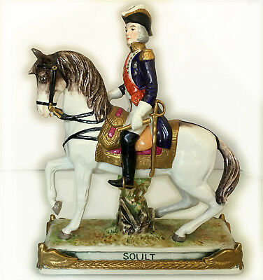 Rare Bourdois & Bloch porcelain figure of Napoleonic Marshal Soult