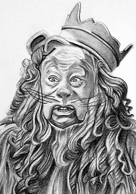 ORIGINAL ACEO sketch card WIZARD OF OZ Bert Lahr COWARDLY LION