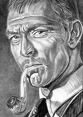 ORIGINAL ACEO sketch card FOR A FEW DOLLARS MORE Lee Van Cleef MORTIMER