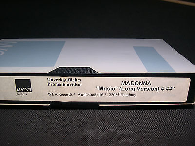 Madonna PROMO GERMANY Music -Long Version- VHS Video clip 1 track NEW rebel tour