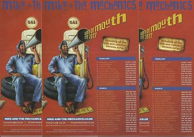 Mike & the mechanics - Word of mouth 2017 UK Tour FLYERS x 3