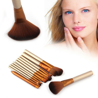 12Pcs/Set Pro Kabuki Makeup Brushes Foundation Powder Eyeshadow Blush Brush Kit