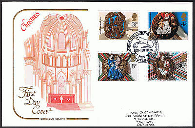 Christmas - First Day Cotswold Cover 1974 -  stamps SG966 to SG969 Collegiate