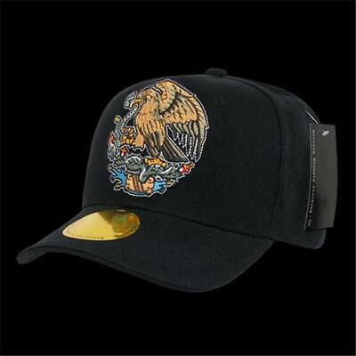 Decky N16-MEX-BLK Curve Bill Eagle Caps Mexico Black 4af71b410b82