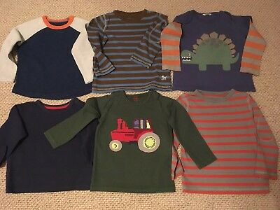 Baby / Mini Boden bundle boys long-sleeved cotton tees t-shirts (18-24 Months)