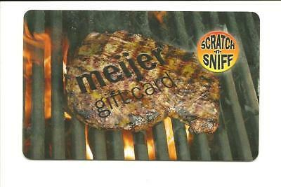 Meijer Scratch & Sniff Steak on the Grill Gift Card No $ Value Collectible