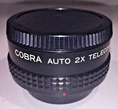 Cobra Auto 2x teleconverter, Canon FD bayonet mount with case
