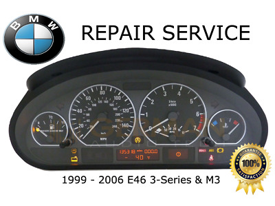 REPAIR SERVICE for BMW E46 3-SERIES INSTRUMENT SPEEDOMETER CLUSTER DASH1999-2006