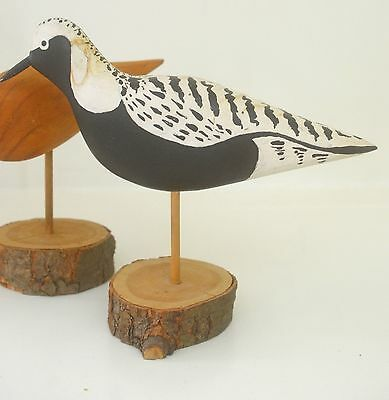 Three Charming Mcm Wood Bird Carvings Waterfowl Sculptures – R.w. Geise Ss979
