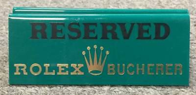 Authentic Rolex Vintage Reserved Advertising Table sign. Collectors item, NR