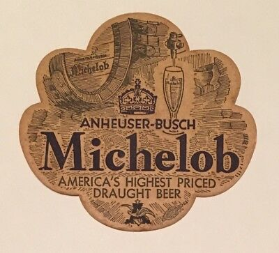 VINTAGE MICHELOB BEER COASTER VERY EARLY STYLE  1930's-40's ANHEUSER BUSCH