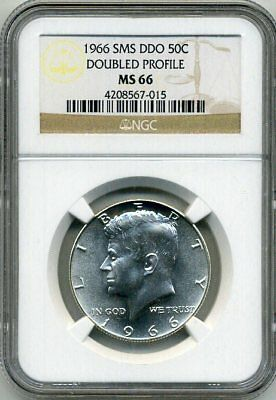 1966 Kennedy Double Die Obv - Doubled Profile NGC SMS 66 * Rare! *