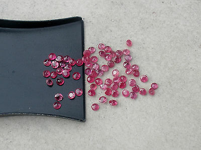1/2ct red ruby round natural loose faceted gem parcel 1.8 to 2.0mm each