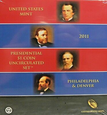 2011 United States Mint Presidential $1 Coin Uncirculated 8 Coin Set Unopened