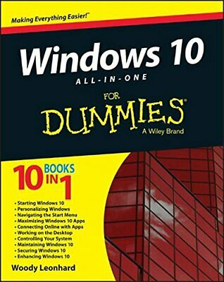Windows 10 All-in-One for Dummies by Leonhard, Woody Book The Cheap Fast Free