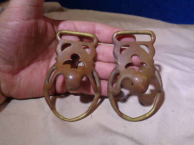 Vintage Pair of Horse Harness Bridle Tack Hardware Buckles
