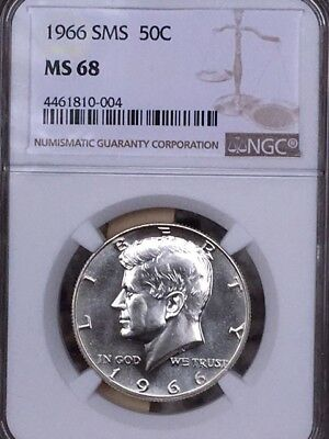 1966 Silver Kennedy NGC SMS 68 * Price Guide $375 - Rare! *