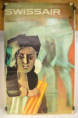 Cool 1960s SWISSAIR Poster India