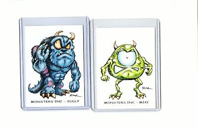 Monsters Inc (2 Cards) Art Prints Sully Mike