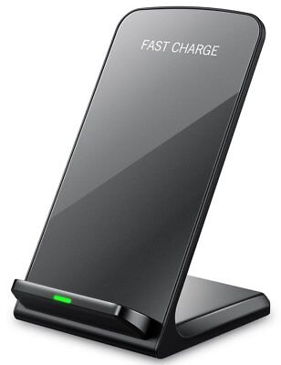 Qi Wireless Fast Charger Charging Pad Stand Dock Samsung Galaxy S8/9+ iPhone X 8