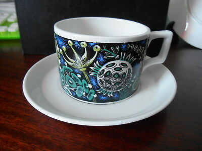 Portmeirion rare pattern ' Magic Garden '  cup and saucer Made in England