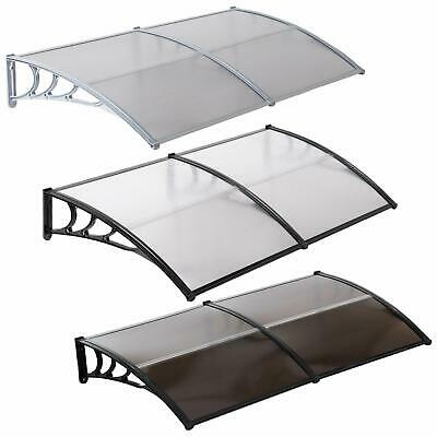 """80""""x40""""/40""""x30""""Window Awning Outdoor Polycarbonate Front Door Patio Cover Canopy"""