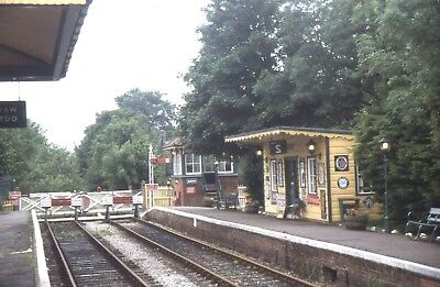 35mm SLIDES  RAILWAYANA : RESITING OF UCKFIELD STATION SUSSEX & CROSSING REMOVED