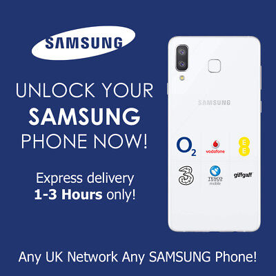 Unlock Code Samsung Note 8 S9 S8 Plus S7 Edge S6 All Uk Network Express Service