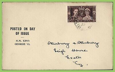 Morocco Agencies 1937 KGVI Coronation issue First Day Cover