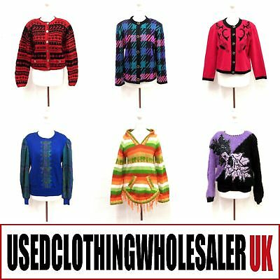 50 Women's Vintage Knitwear Mix Jumpers Cardigans Wholesale Clothing Fashion