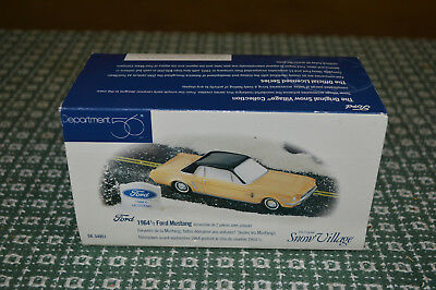 Dept 56 Snow Village Classic Cars - 1964 1/2 Ford Mustang Retired In Ob