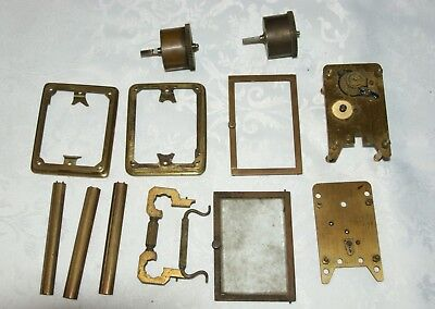 Collection of Vintage/Antique Brass Carriage Clock Parts, Spares/Repair