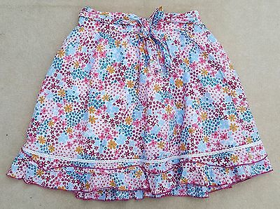 GEORGE Bow White Multicoloured Elasticated Skirt 100% Cotton 8-9 Years