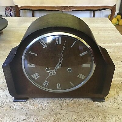 Antique Smiths Enfield Chiming  Mantel Clock To Restore