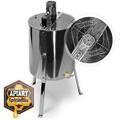 OPEN BOX - Pro Electric 4/8 Frame Beekeeping Stainless Steel Honey Extractor