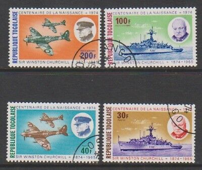 Togo - 1974, Sir Winston Churchill (Ships & Aircraft) set - F/U - SG 1047/50