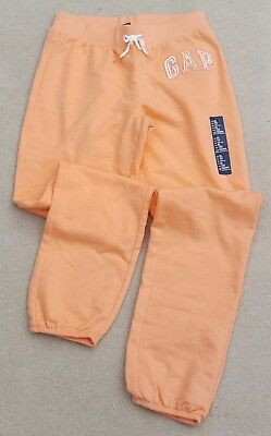 GAP Kids Girls Orange Soft Joggers Jogging Pants Cotton Blend XL 12 Years