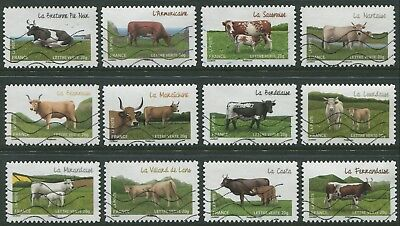 Cows Of The French Regions  2014 - Vfu Set Of Twelve Self-Adhesives (Bl353)
