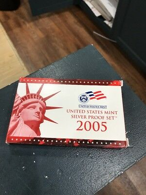 2005 US Silver Proof Set With COA