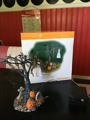 Department 56 Halloween Lit Graveyard Tree With Box