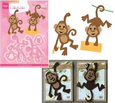 Eline's Monkey Metal Die Cut Set Marianne Cutting Dies COL1399 Animals Zoo