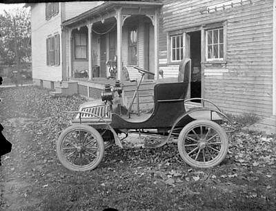 EARLY AUTOMOBILE - COVERT (?)  New York State - 4x5 Glass Negative