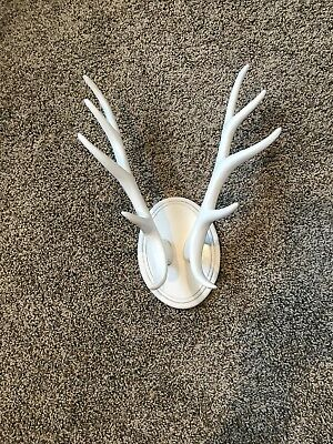 Faux White deer antlers Decor